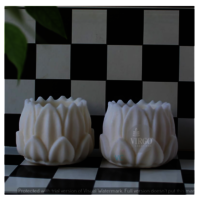 Hurricane Lotus Candle: White, Vanilla 2 pieces in a pack