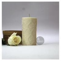 Embossed Pillar Motiff White