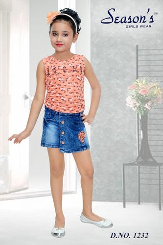 Peach Kids Hot Pant Set