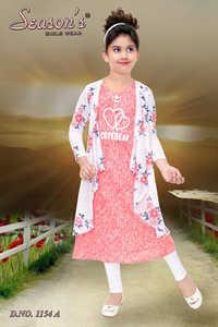 Girls Pink and White Leggings Set