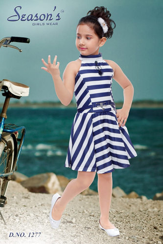 Blue Kids Party Wear Midi