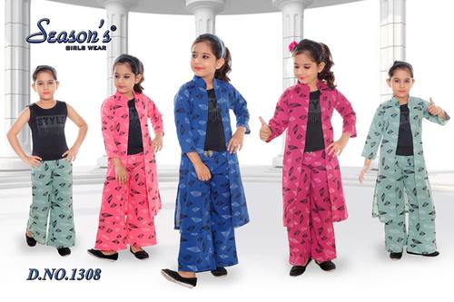 Multi Girls Palazzo Set