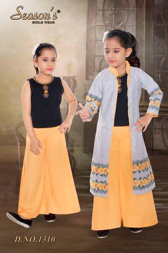 Yellow Girls Palazzo Set