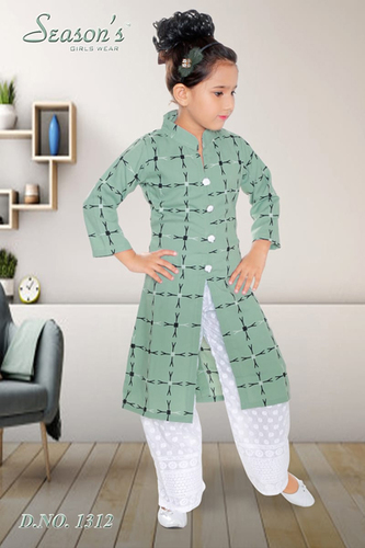 Green Girls Palazzo Set