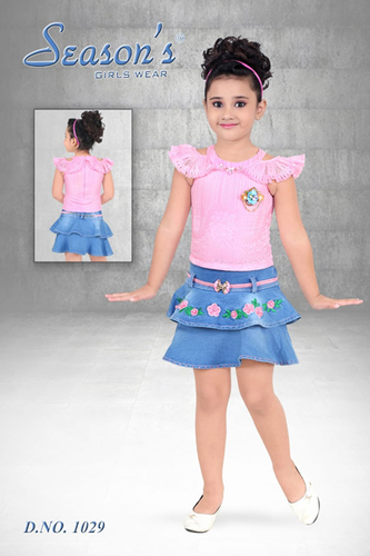 Pink Girls Skirt Set