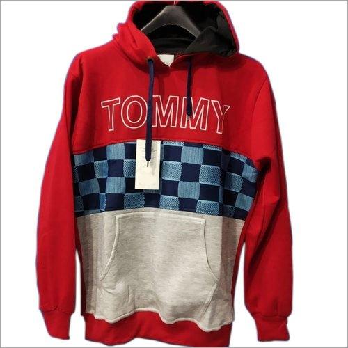 Mens Woolen Hoodies Sweatshirt