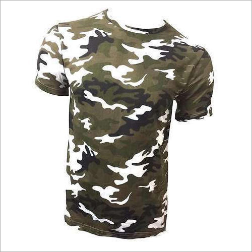 Military Cotton T Shirt