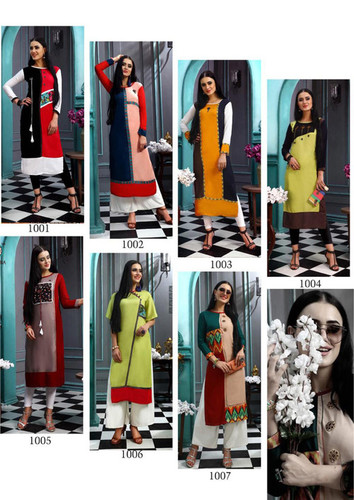 Cloud Aradhna Present Heavy Rayon Straight Kurti