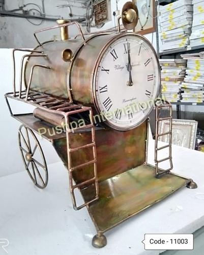 Antique Finish Engine Clock