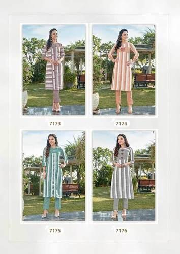 Colorbar Vol-3 Lurex Rayon Wholesale Kurti