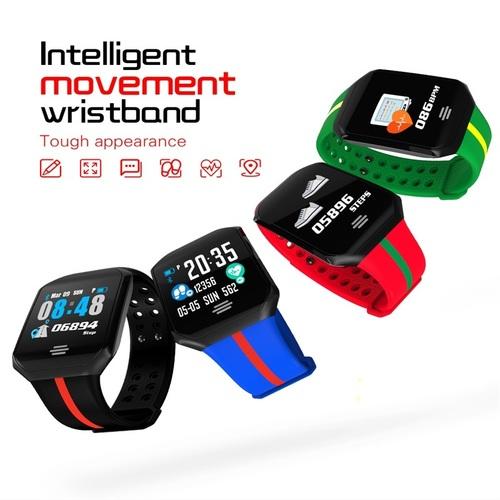 Waterproof Watch Color Screen Sports Smart Bracelet Blood Pressure Heart Rate Monitor Smart Band Fitness Tracker Wristband B07