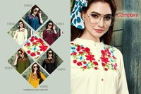 Compass Riya Designer Embroidered Ladies Tops for Wholesale