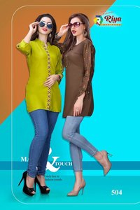 Compass Vol-2 Riya Designer Rayon Dyed Tops