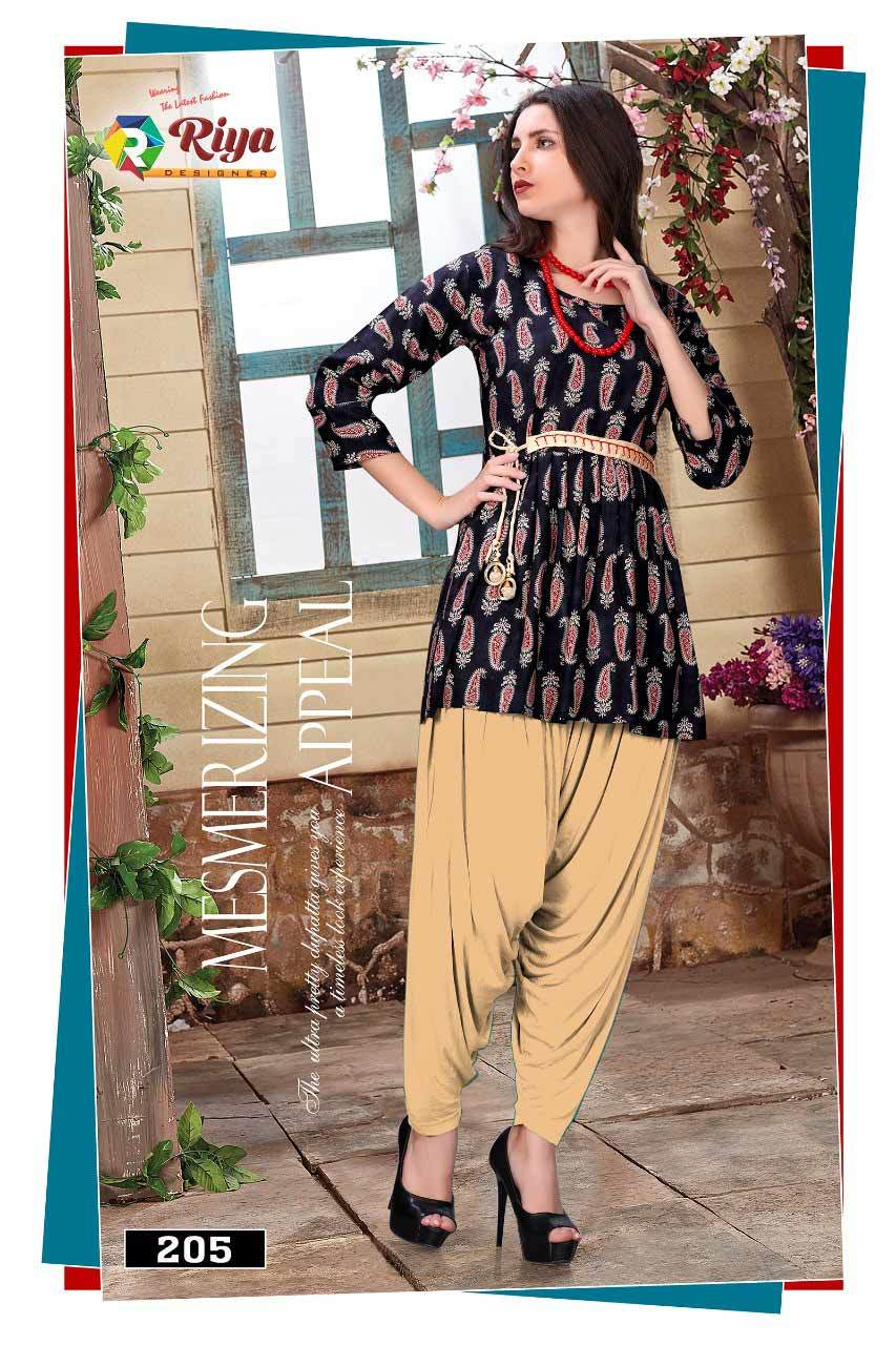 Compass Vol-3 Riya Designer Printed Rayon Top