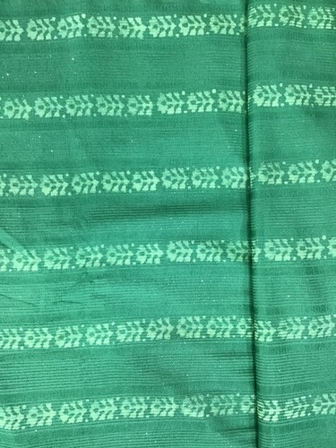 Chanderi Batik Embroidery Fabric