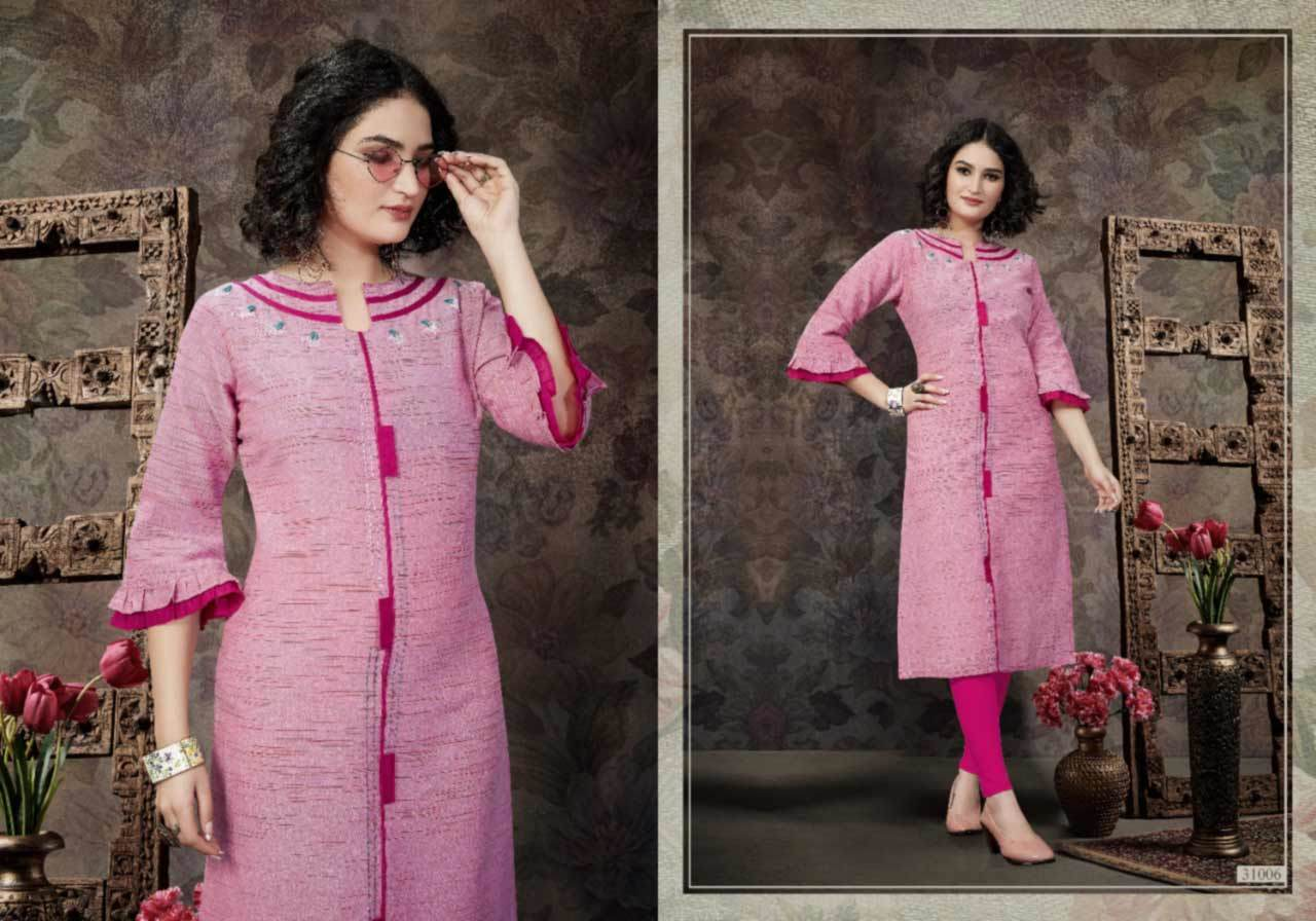 Coral Handloom Cotton Wholesale Kurti Set