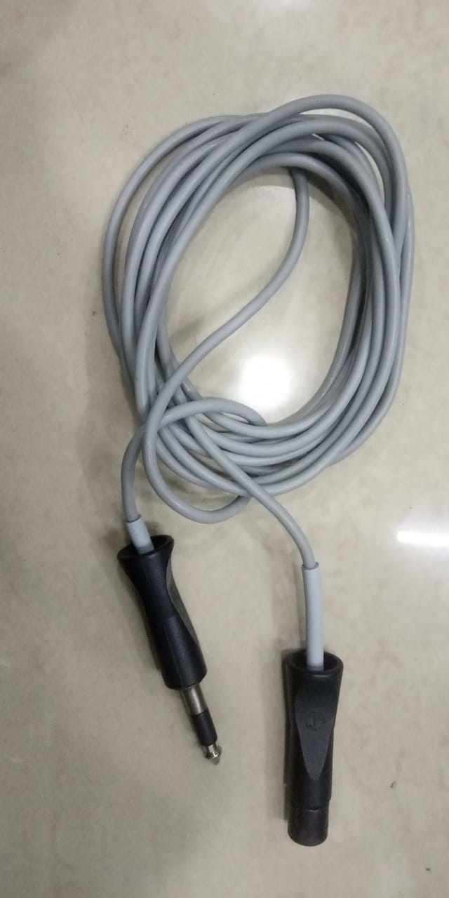 L & T Patient Plate Cable Cord Round Adaptor Type