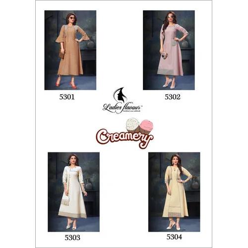 Creamery Ladies Flavour Cotton Kurti Manufacturer