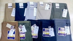 BRANDED TROUSERS WITH BRAND BILL