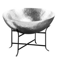 Aluminum Bowl with Iron Stand