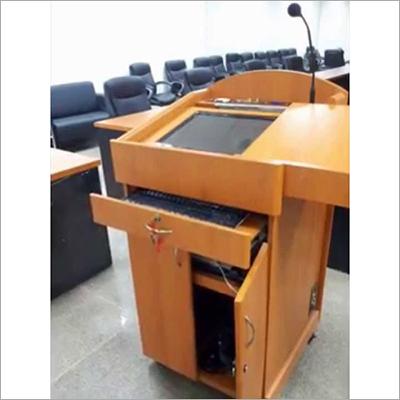 Digital Wooden Podium