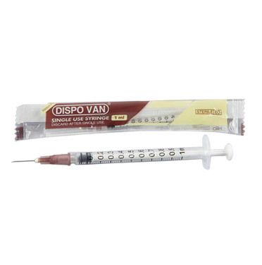 Dispovan Syringe 1ml With needle