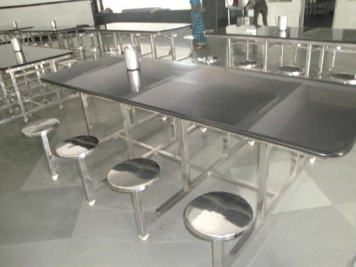 Stainless Steel Dining Tables With Granite Top