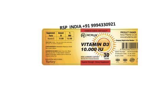 Acrux Vitamin D3 10,000iu Capsule