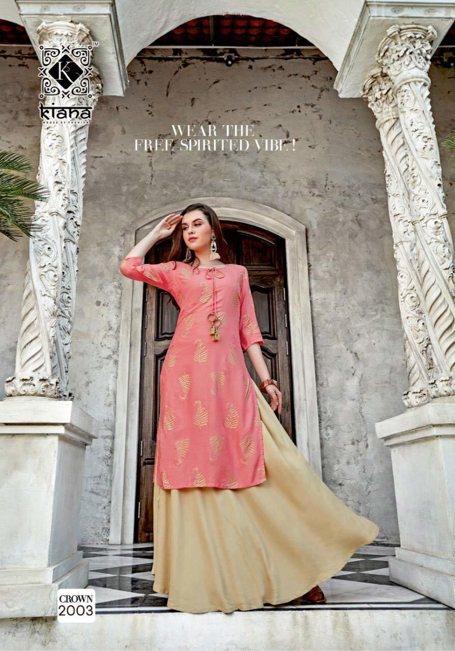 Crown Vol-2 Kiana Hand Block Print Embroidery Kurti