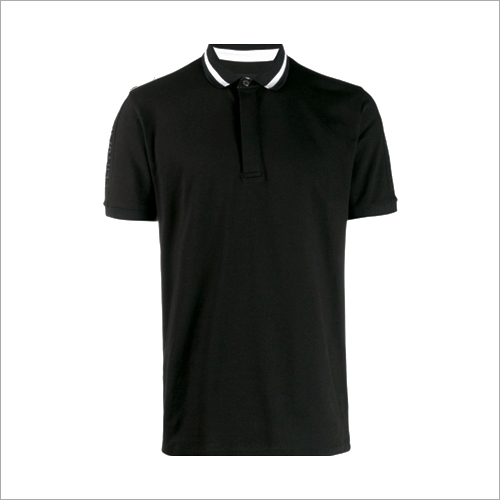 Mens Collar Plain T-Shirt