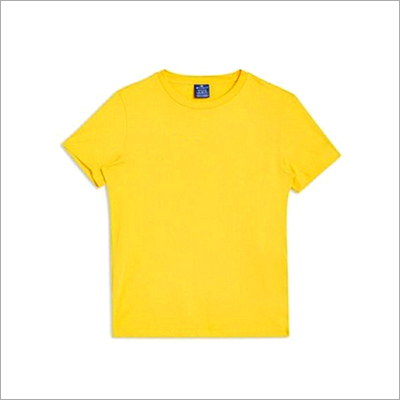 Men Round Neck Plain T-Shirt