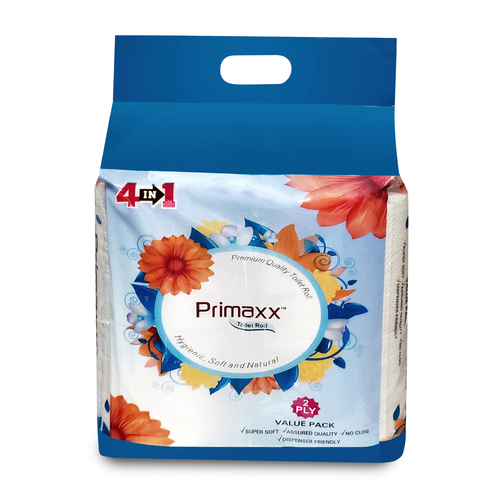 Primaxx Premium Quality Toilet Paper Roll (2 Ply) 4 In 1 Pack