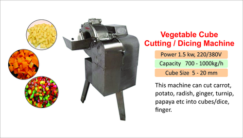 Tutti Frutti Cube Cutting Machine
