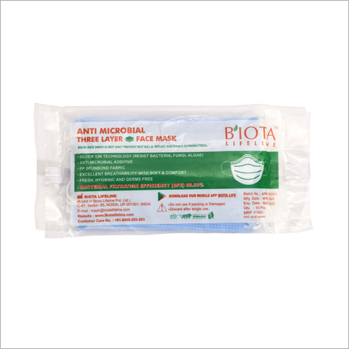Three Layer Anti Microbial Face Mask