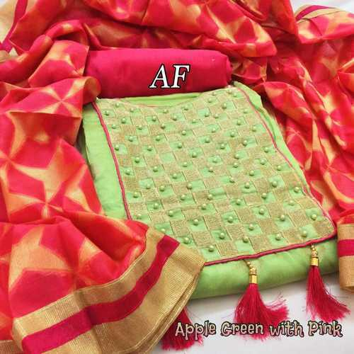Chanderi Cotton Dress Materials