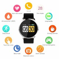W1 Bluetooth Smart Watch Heart Rate Blood Pressure Monitoring Reminder