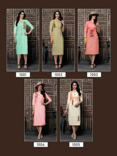 Culture Vol-1 Riya Designer Cotton Kalimudi Work Kurti