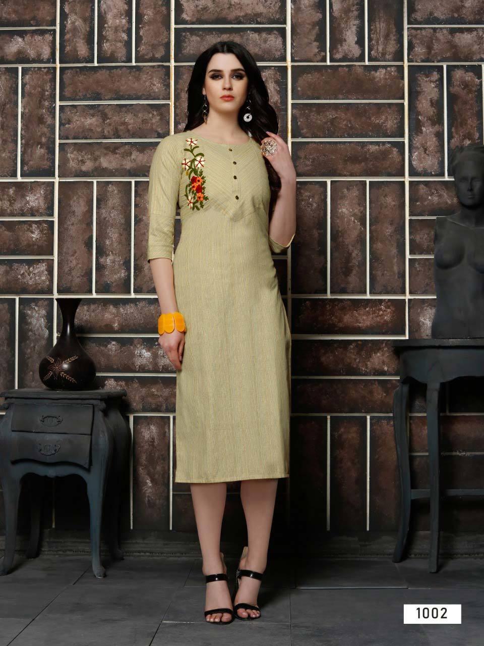 Culture Vol-1 Riya Designer Cotton Kalimudi Work Kurti