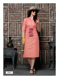 Culture Vol-1 Riya Designer Cotton Kalimudi Work Kurti Kurti