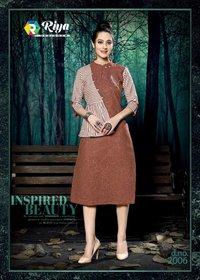 Culture Vol-2 Riya Designer Stripe Cotton Kurti
