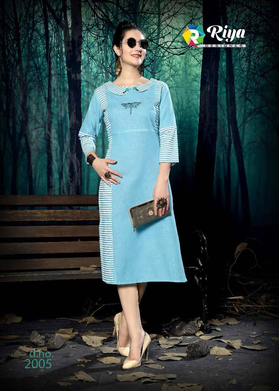 Culture Vol-2 Riya Designer Stripe Cotton Kurti