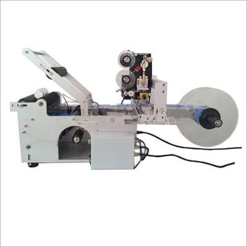 Semi Auto Round Bottle Labeling Machine With Batch Coder
