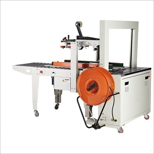 Fully Automatic Carton Sealing And Strapping Machine