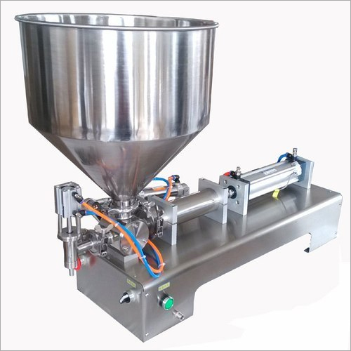 SS Pneumatic Single Head Paste Filler Machine