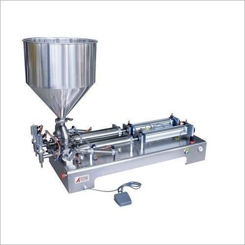 Pneumatic Double Head Paste Filler Machine