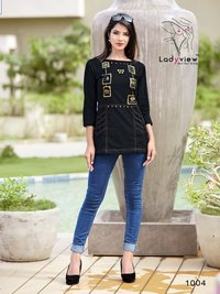D-Topsy Ladyview Launched Denim Cotton Tops