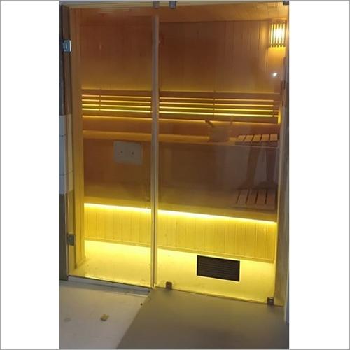 Wooden and Glass Sauna Bath