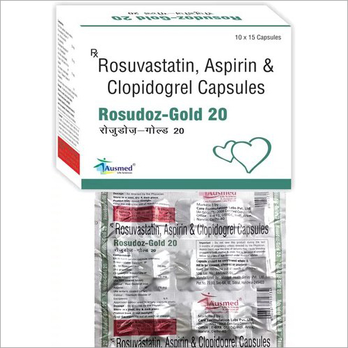 Rosuvastatin Calcium IP 20mg Clopidogrel 75mg Aspirin IP 75mg