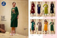 Dazzle Vitara Fashion Air Jet Rayon Casual Wholesale Kurti