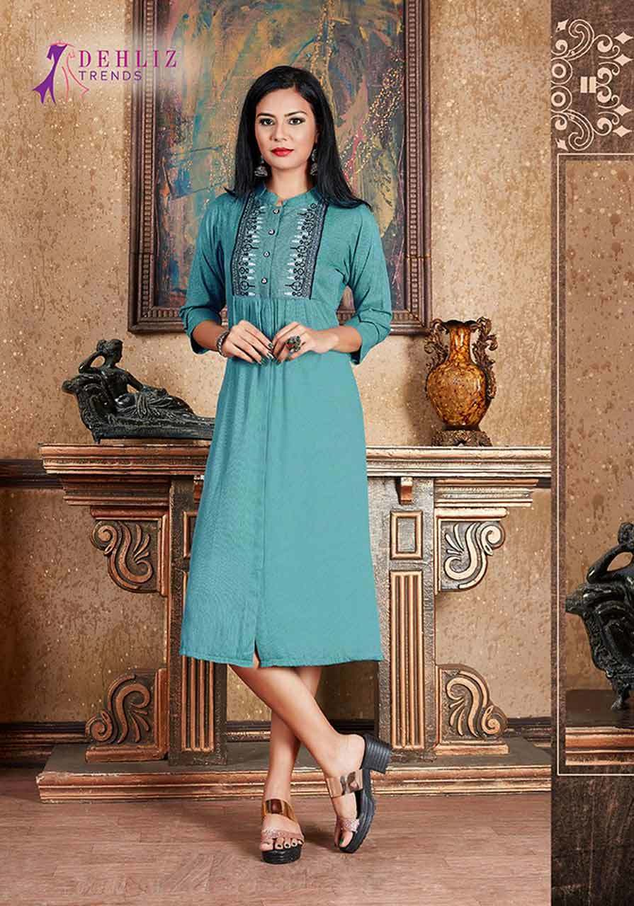 Dehliz Trends Trendy Self Lining Wholesale Kurti